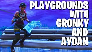Playground 1v1s with Ghost Aydan and Gronky (I GOT ROASTED)