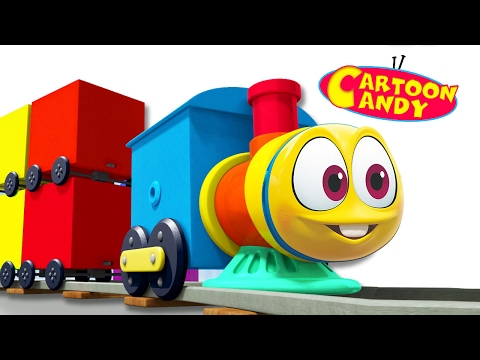Learn Colors with Colorful Trains - WonderBalls | Cartoons For Children  | Cartoon Candy