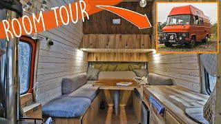 Selbstausgebauter Mercedes 407d Camper | Große ROOMTOUR mit 5 Schlafplätzen! | OLDTIMER UMBAU