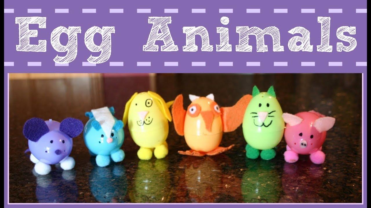 EASY EASTER CRAFT FOR KIDS PLASTIC EGG ANIMALS