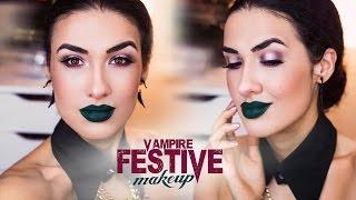 ✣ Festive Vampire MakeUP | Праздничный Макияж для Вампира | УРОК ✣