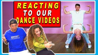REACTING TO OUR OLD VIDEOS! ft Sofie Dossi