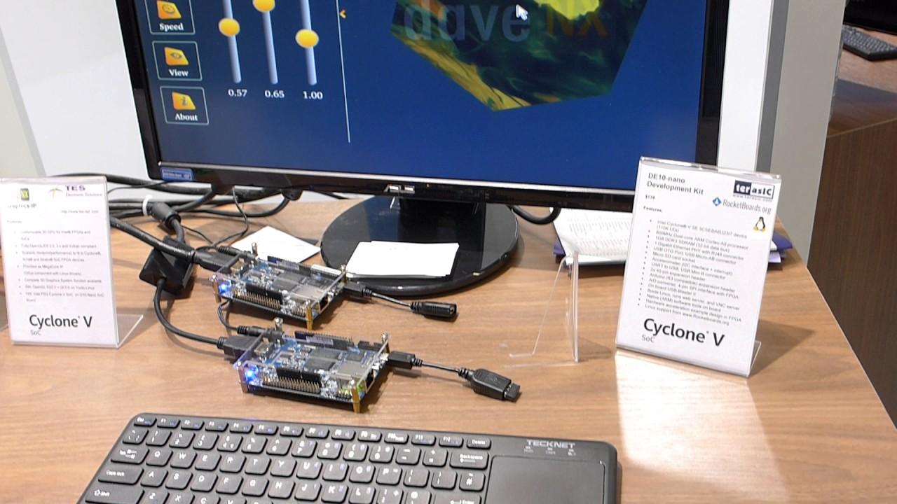 Graphics Processor (GPU) implementation in an FPGA (Altera Cyclone V)