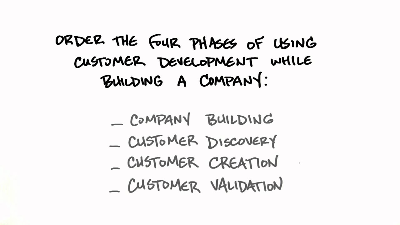 Four Phases Of Customer Development - How to Build a Startup