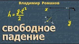 кинематика СВОБОДНОЕ ПАДЕНИЕ ТЕЛ 10 класс видеоурок