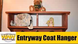 Entryway Coat Hanger - Off the cuff- Wacky Wood Works