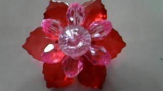 DIY flower-cara membuat pin bunga dari manik-manik_how to make a flower pin of beads