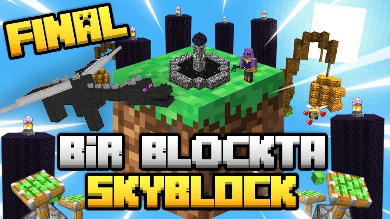 Download 1 BLOKTA SKYBLOCK FİNAL / Sınırsız Kaynaklı Skyblock