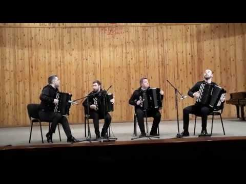 """КВАРТЕТ БАЯНИСТОВ,  Д.Клебанов Скерцо""""Щедрик"""", AKKO Quartet"""