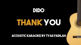 Dido - Thank You (Acoustic Guitar Karaoke Backing Track with Lyrics)
