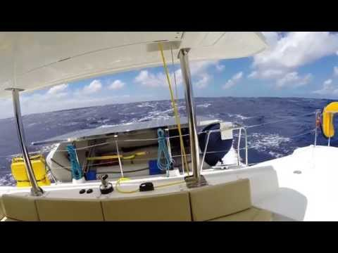 IMPI sailing the ASYMMETRIC thru SQUALLS - South Pacific Ocean