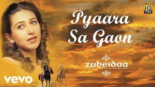 Enjoy this pleasant piece of art composed by a. r. rahman and sung lata mangeshkar from the film zubeidaa. song name - pyaara sa gaon movie zubeidaa sin...