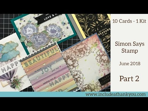 10 Cards - 1 Kit | Simon Says Stamp Monthly Card Kit June 2018 | Part 2