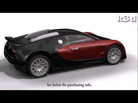 bugatti veyron 3d model by k3d youtube. Black Bedroom Furniture Sets. Home Design Ideas