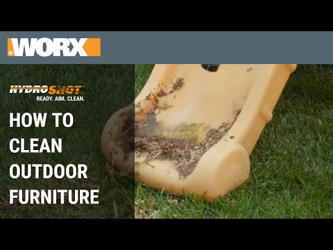 How to Clean Outdoor Furniture | WORX Hydroshot Hacks