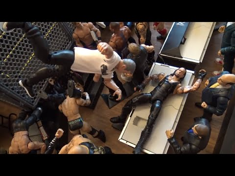 WWE Action Figures set up - Steel Cage