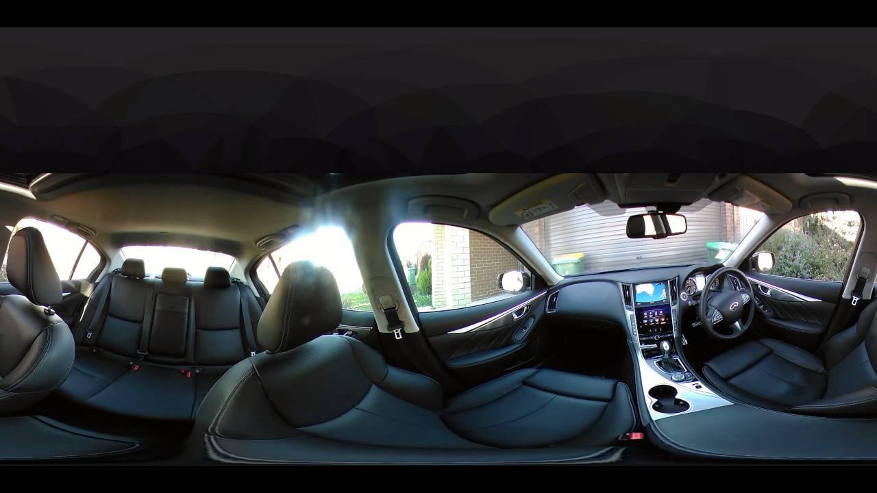 2016 Infiniti Q50 3.0 T Premium >> 360 Infiniti Q50 Interior 360fly4k camera - YouTube
