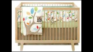 4 Piece Crib Bedding Set, Treetop Friends ;baby Room Bedding, Baby Crib Bumper
