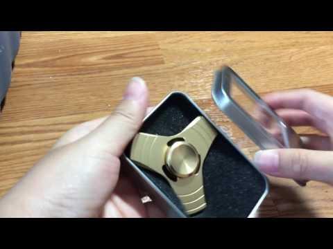 Aluminum Golden fidget spinner unboxing