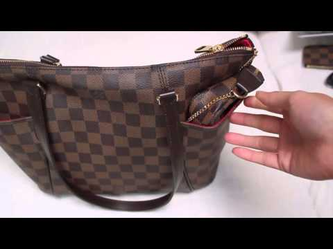 f0764f78df8 My updated Louis Vuitton collection · What fits inside my Totally PM in  Damier Ebene