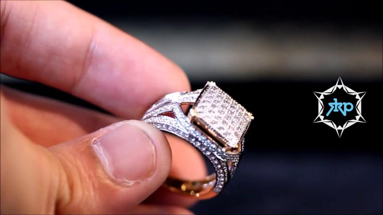 SKP Jewels - Mens diamond ring - YouTube