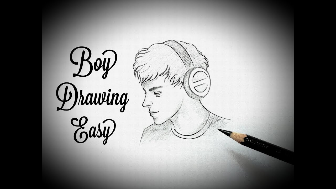how to draw a boy face easy Drawing a boy face sketch step ...