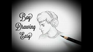 draw easy face drawing step boy beginners pencil sketch tutorial