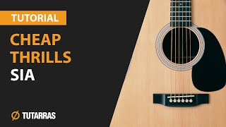 CHEAP THRILLS by SIA - How to play  - Acoustic GUITAR LESSON