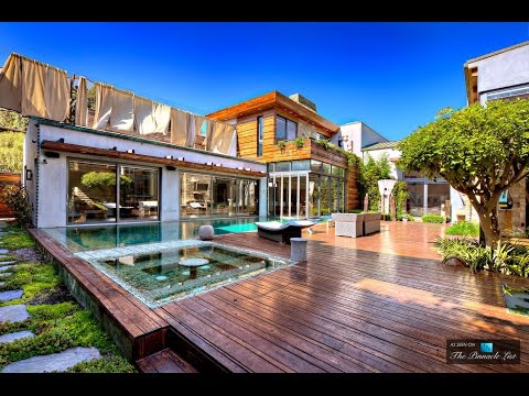 Spectacular $7 Million Double Story 4 Bed 6 Bath Balinese style Home in Santa Monica USA