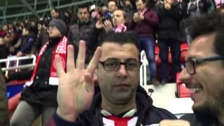 Antalyaspor 4 Fenerbahçe 2 maç sonu Nuri Alço müziği eşliğinde eğlence 05.02.2016