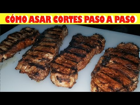 como-asar-cortes-de-carne-paso-a-paso-/-how-to-grill-new-york-steaks