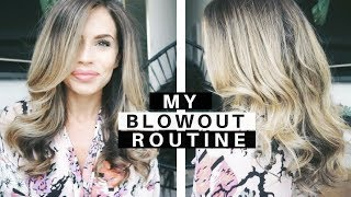 My Blow Dry Routine | DIY Blowout At Home