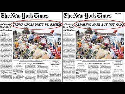 NYT changes front-page mass shootings headline after backlash from Democrats