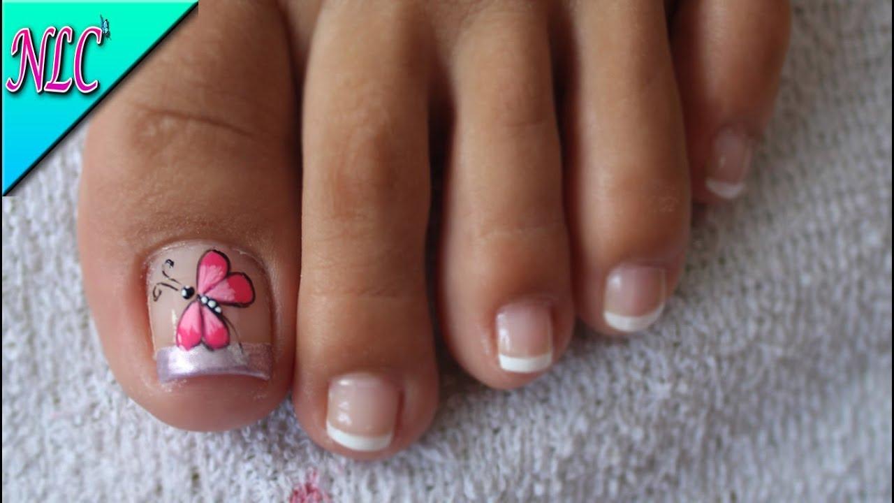 Decoración De Uñas Libelula Para Pies Dragon Fly Nail Art