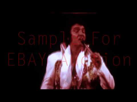 Elvis Live In Philadelphia 1974 - Super 8 / 8 mm - Sample For Ebay