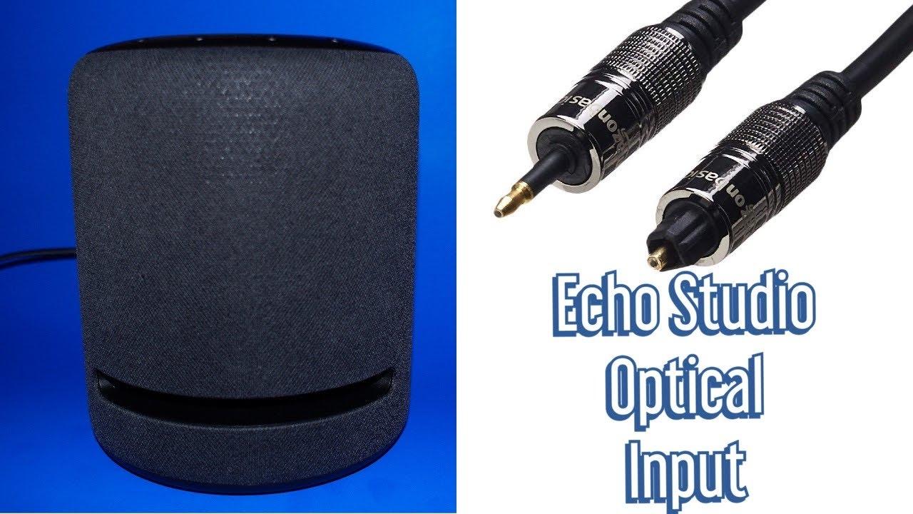 recherche de véritables hot-vente plus récent prix modéré Amazon Echo Studio - Mini Optical input - Use your Echo Studio as a  soundbar!