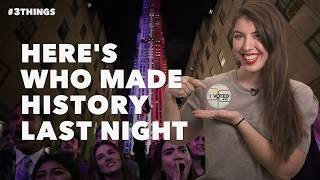 60-Second Video: Who Made History Last Night?