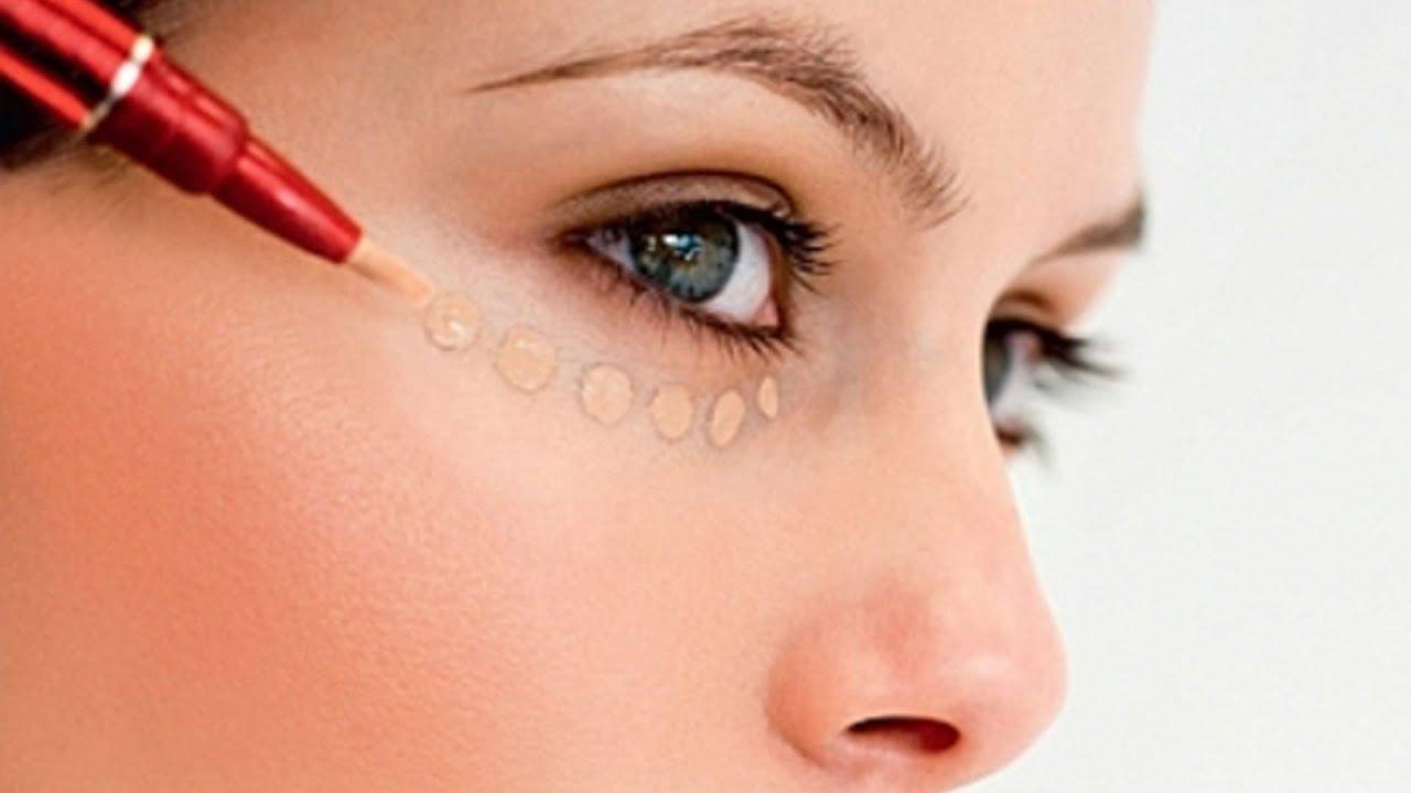 Замаскировать мешки под глазами с помощью косметики