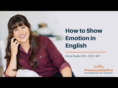 How to show emotion in English