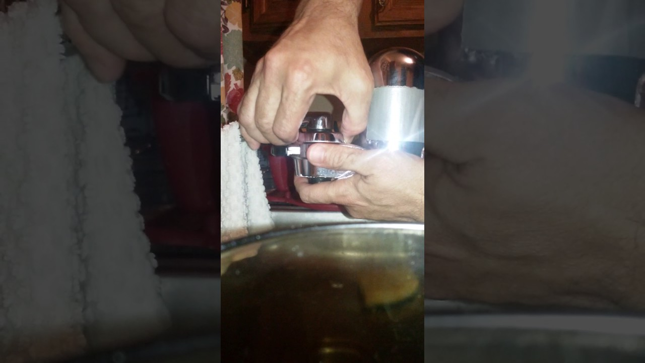 The Pur water filter damaging our faucet and sink - YouTube