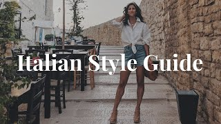 How to Dress Like an Italian Woman / Italian Style Guide