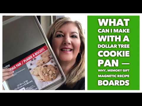 What Can I Make With A Dollar Tree Cookie Pan — Why, Memory Gift Magnetic Recipe Boards