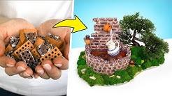 🧱So baut man einen Mini-Wasserbrunnen aus Mini-Ziegelsteinen ⛲️