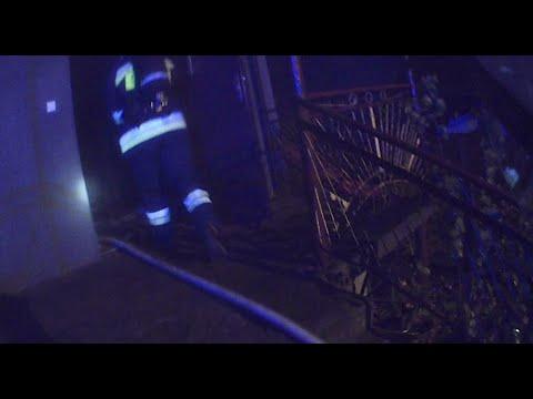 [Helmet Cam] Pożar w budynku mieszkalnym - OSP Glinojeck
