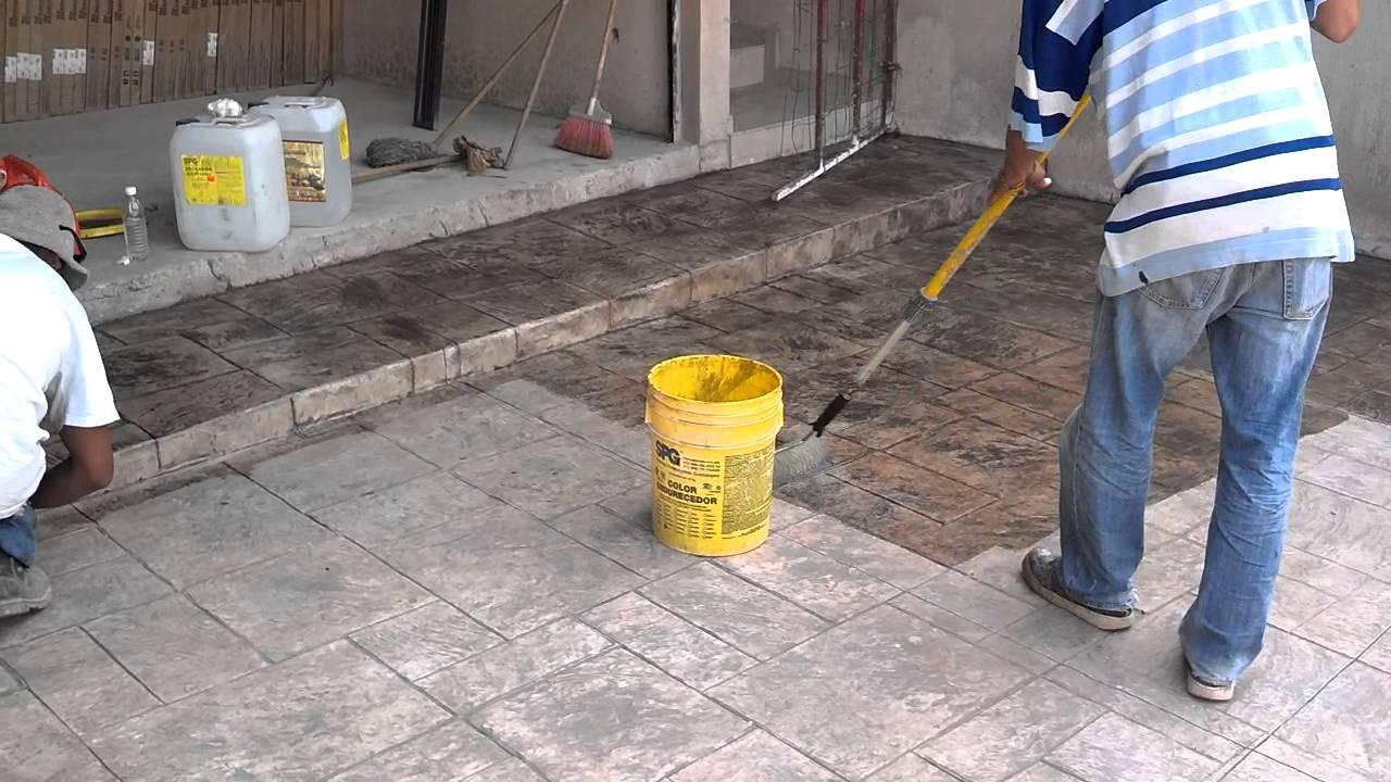 Sellador acrilico para concreto estampado youtube for Mortero de cemento