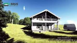 видео Проект для строительства дома из бруса