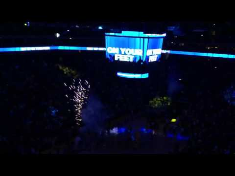 Golden State Warriors Pregame Introduction 2016 at Oracle Arena