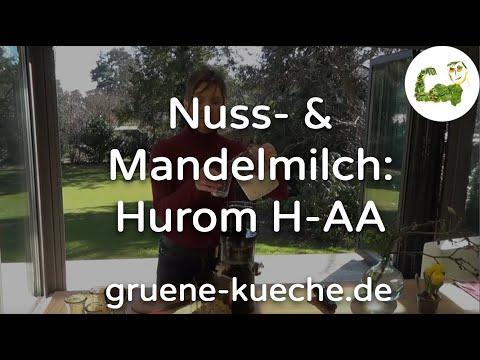 Hurom H-AA Teil 3 - Nussmilch / Mandelmilch mit dem Entsafter machen