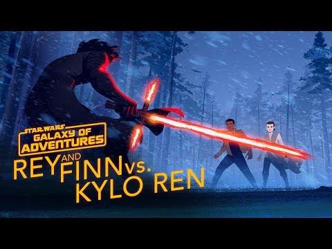 Rey and Finn vs. Kylo Ren | Star Wars Galaxy of Adventures