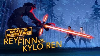 Rey and Finn vs. Kylo Ren | Star Wars Galaxy of Adventures